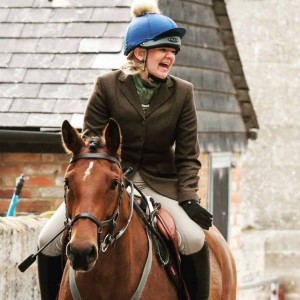 Suzanna Bedford enjoying riding Paloma